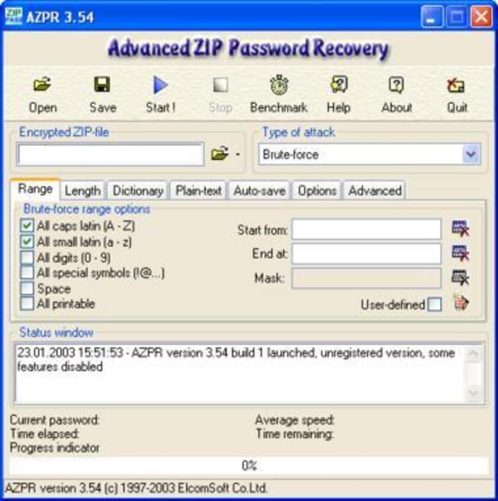 Advanced ZIP Password Recovery - Download