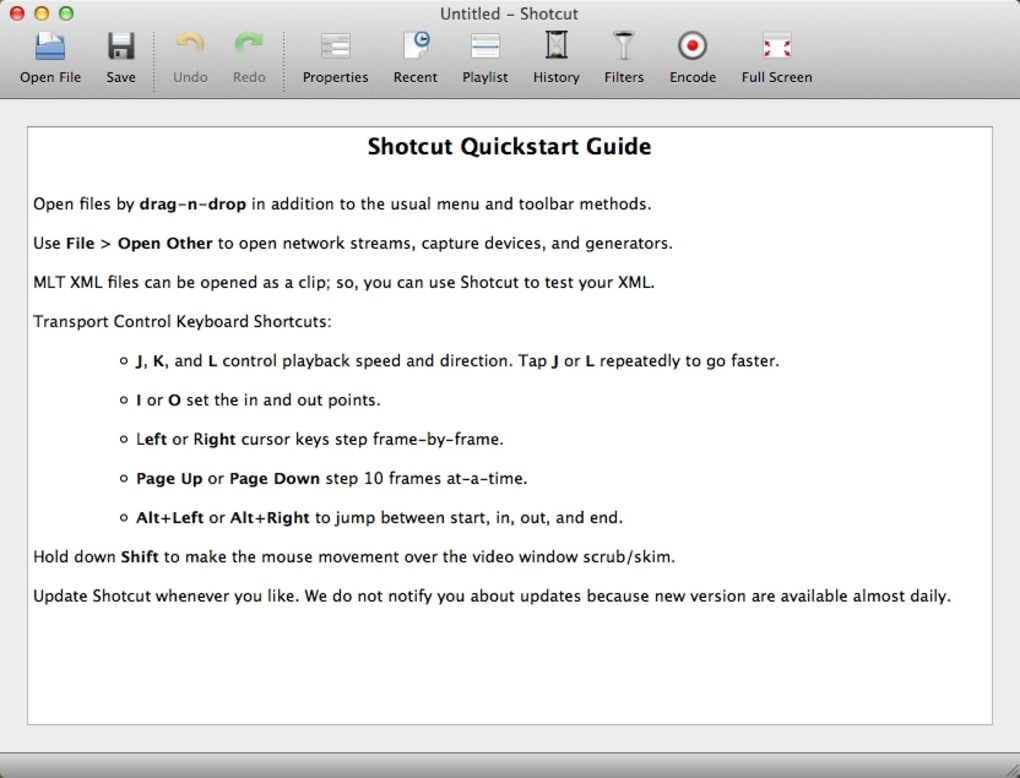 Shotcut for Mac - Download