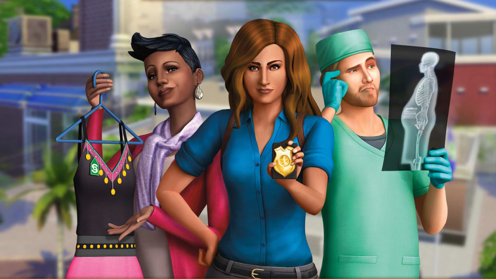 sims 4 get to work free download no survey