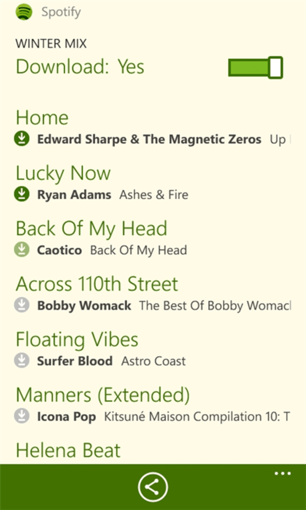 spotify mobile for windows phone - download