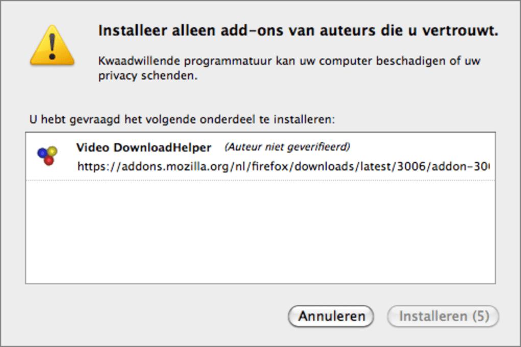 Video DownloadHelper voor Mac - Download