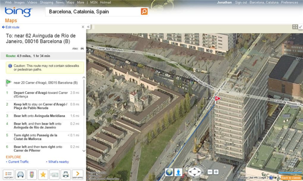 Bing Maps Online - Microsoft satellite maps