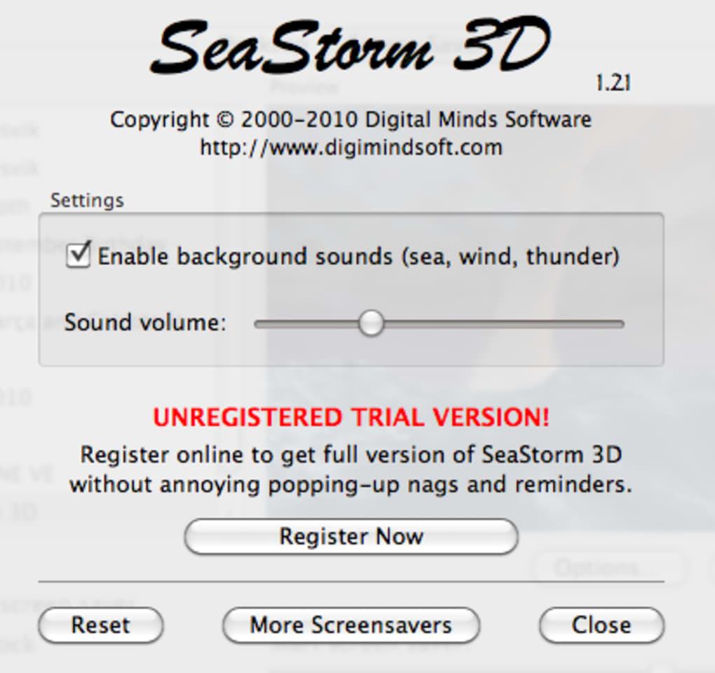 Seastorm 3d screensaver download.