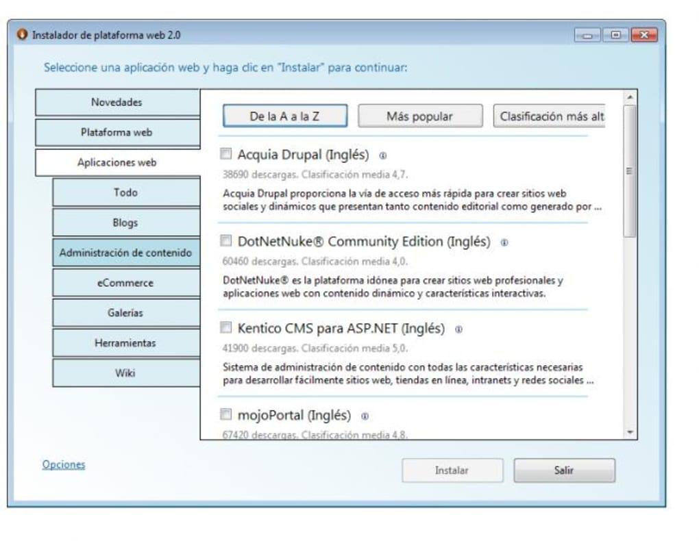 Microsoft Web Platform Installer - Descargar