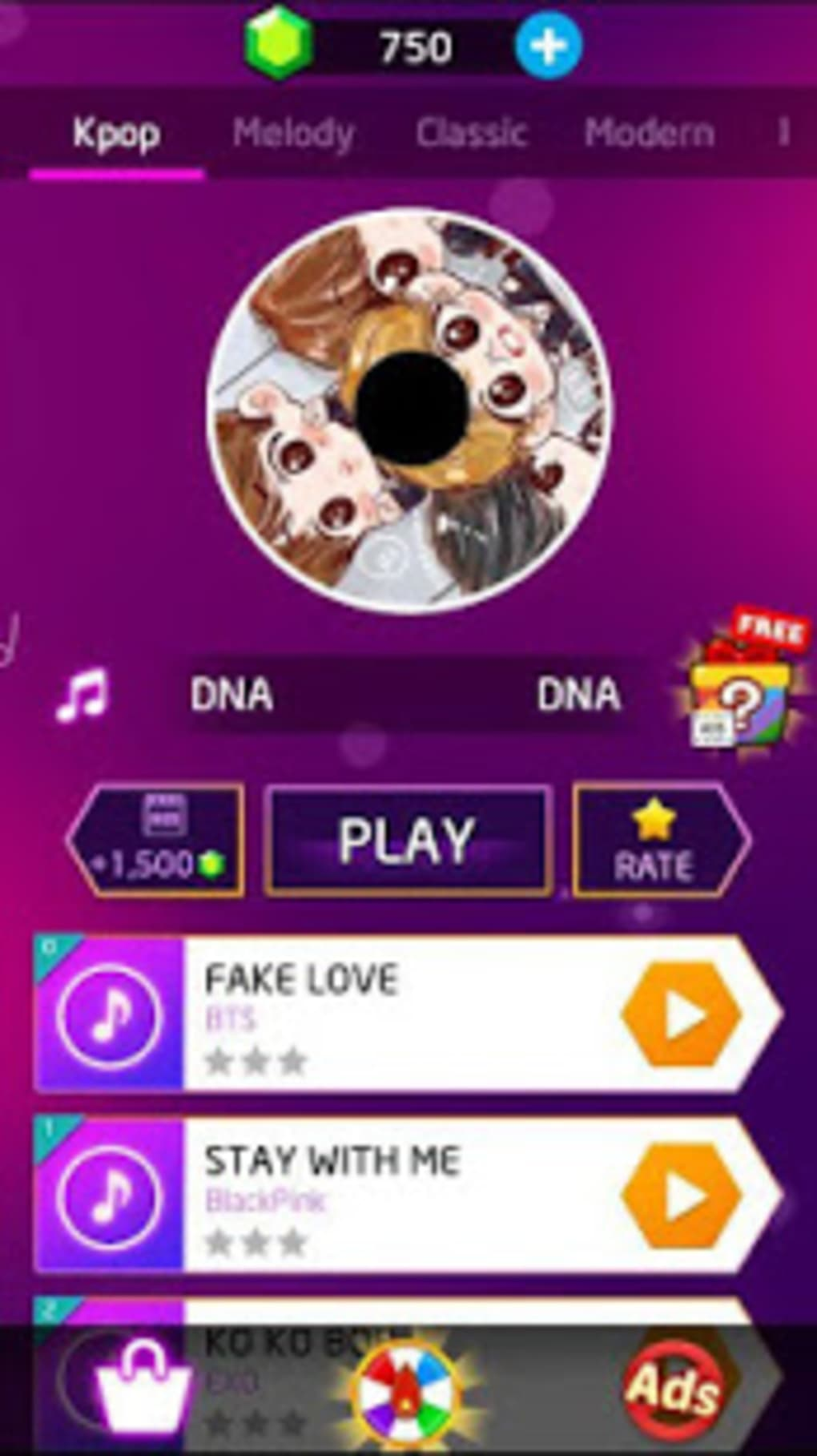 Kpop: BTS Piano Tiles 3 for Android - Download
