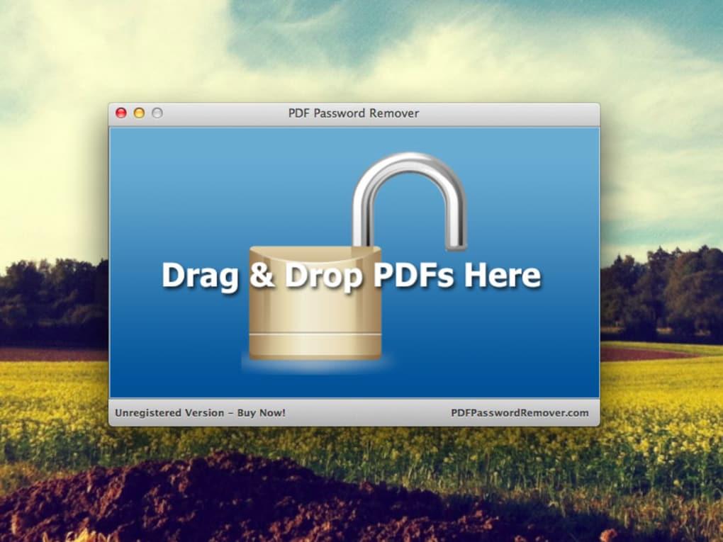 crack pdf password remover mac