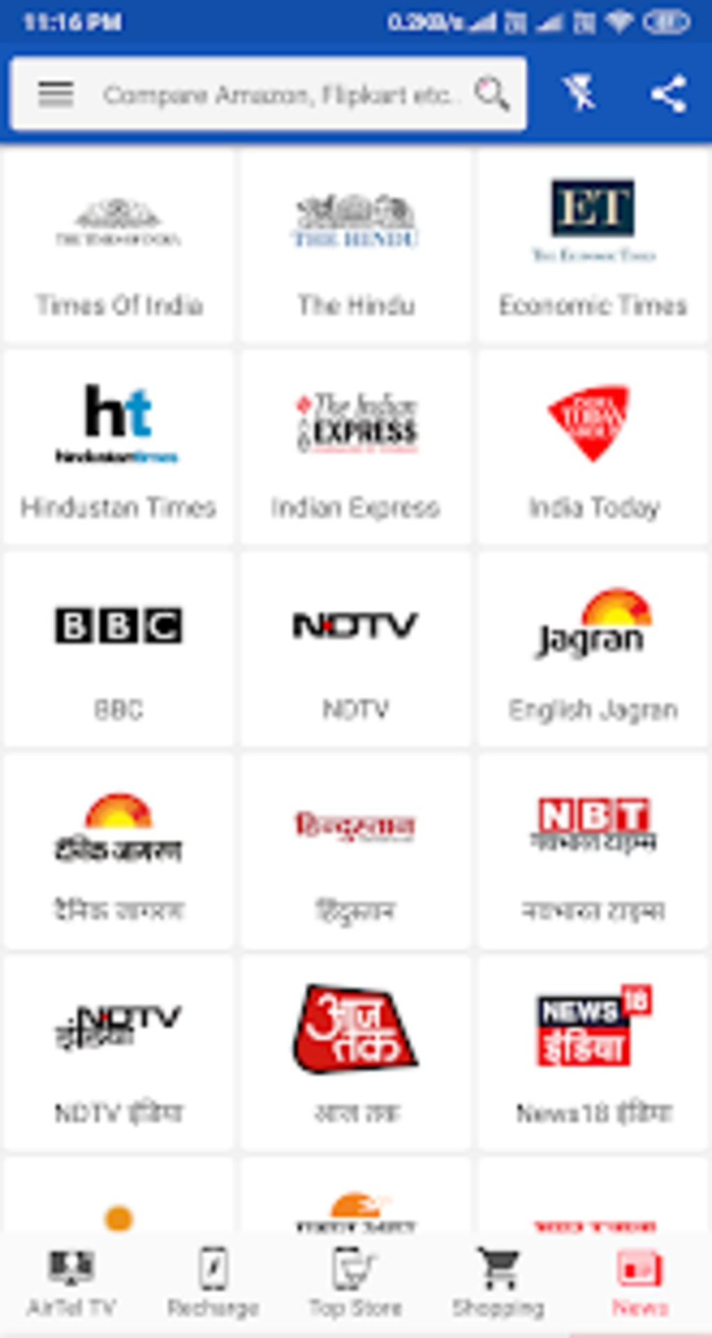 Airtel tv channels