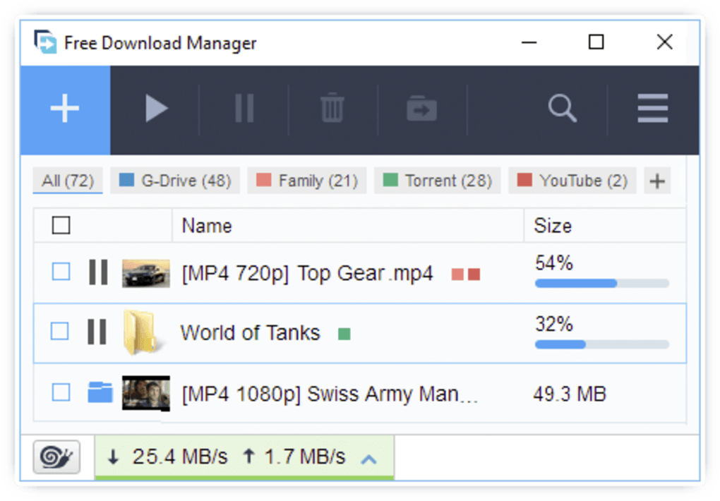 free download high speed download manager