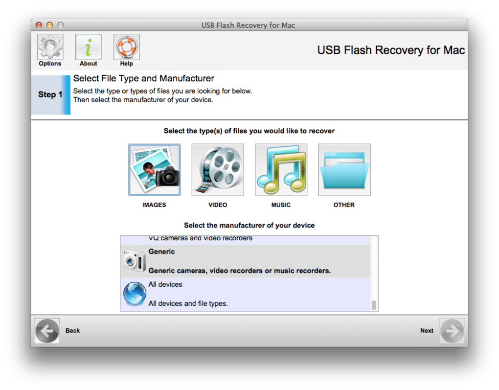 321Soft USB Flash Recovery for Mac Mac  Download