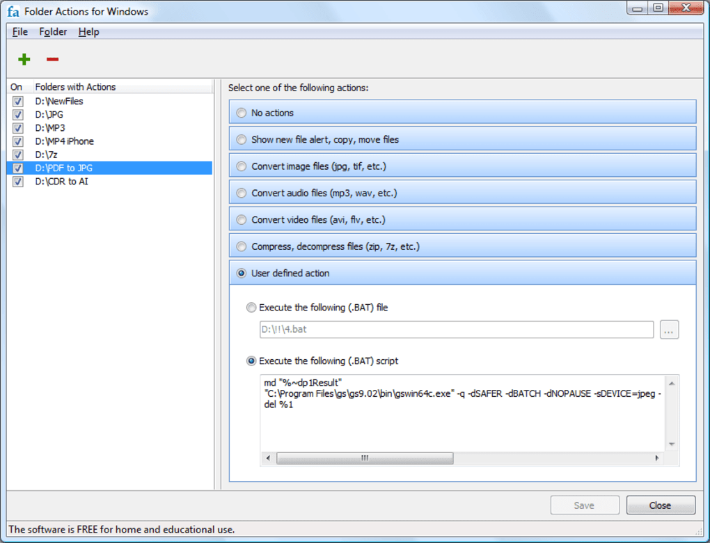 Folder Actions for Windows (Windows) - Download