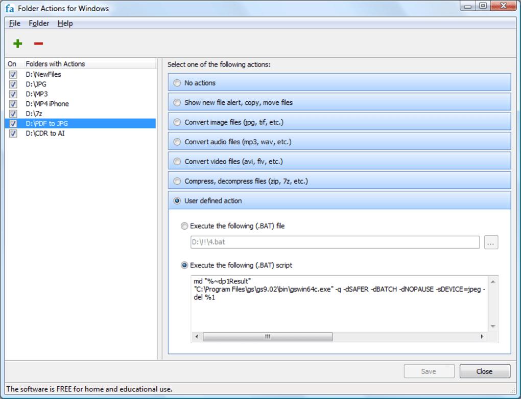 Folder actions for windows windows download for Folder action