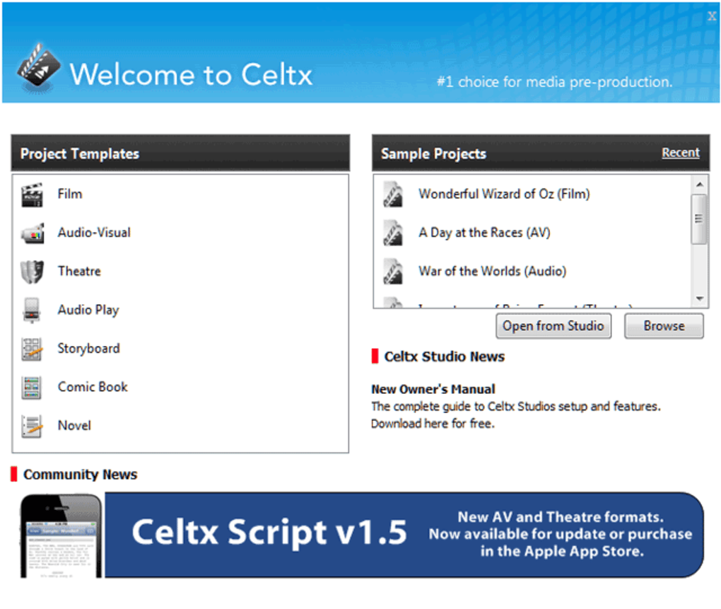 Celtx - Download