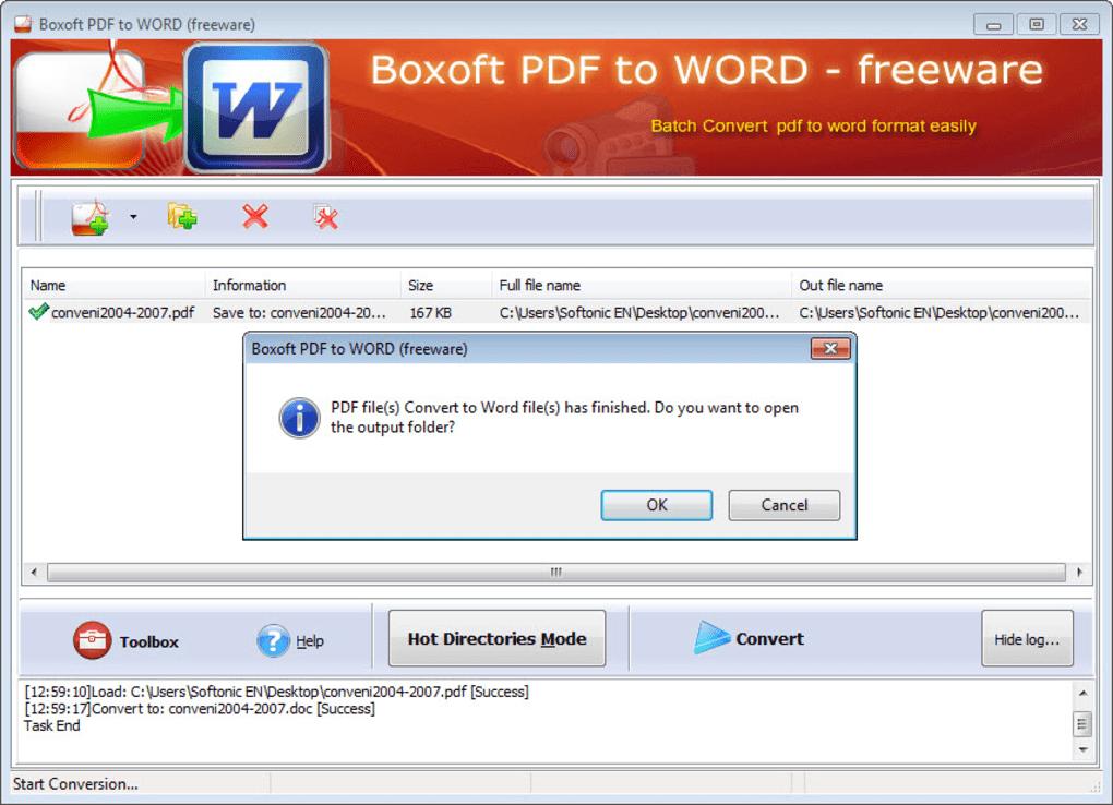 DE WORD A PDF SOFTONIC EBOOK