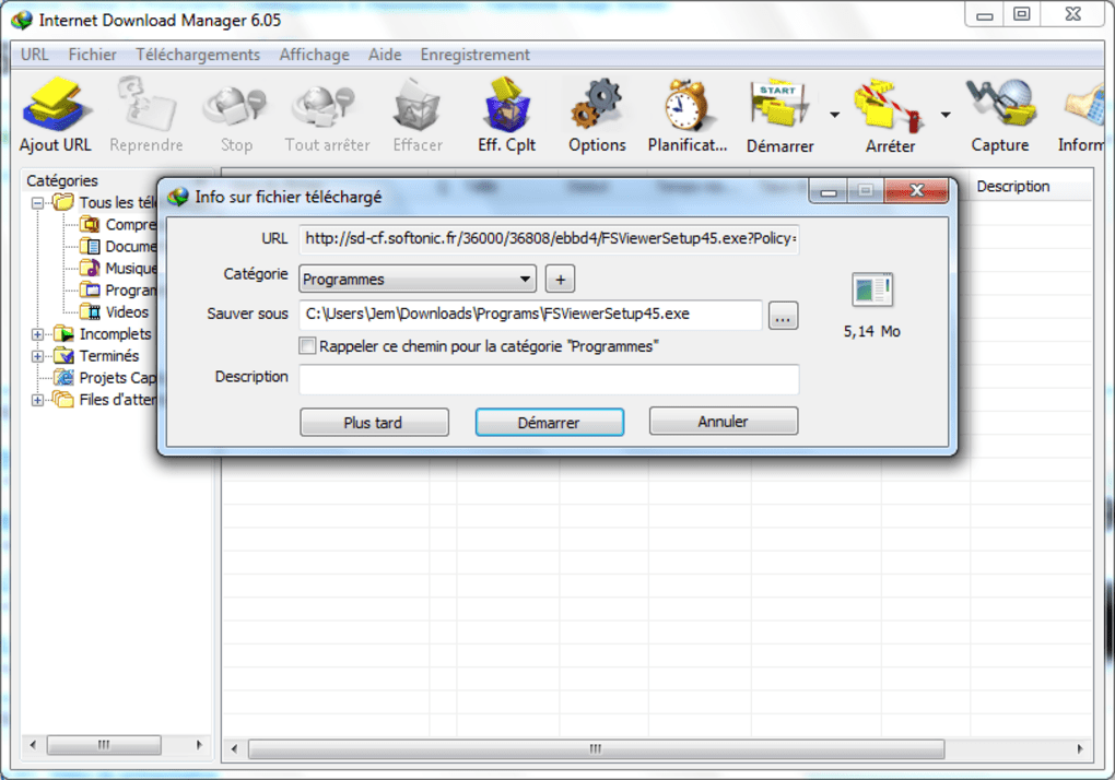 internet download manager 6.07 gratuit sur 01net
