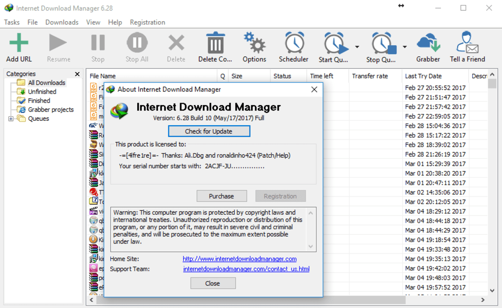 internet download manager 6.05 build 2 with patch and crack