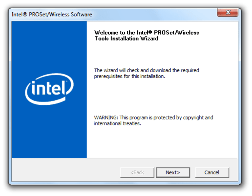 How to download & install all intel proset/wireless software for.