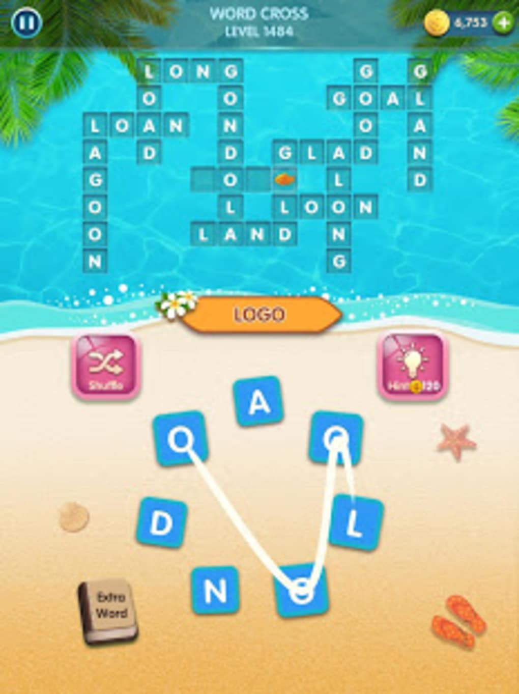 Word GamesCross Connect Search