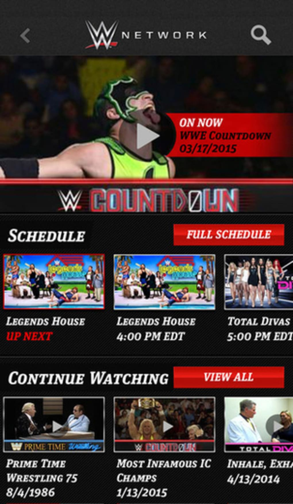 WWE for iPhone - Download