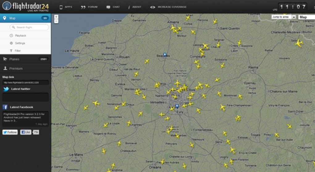 flightradar24 deutsch