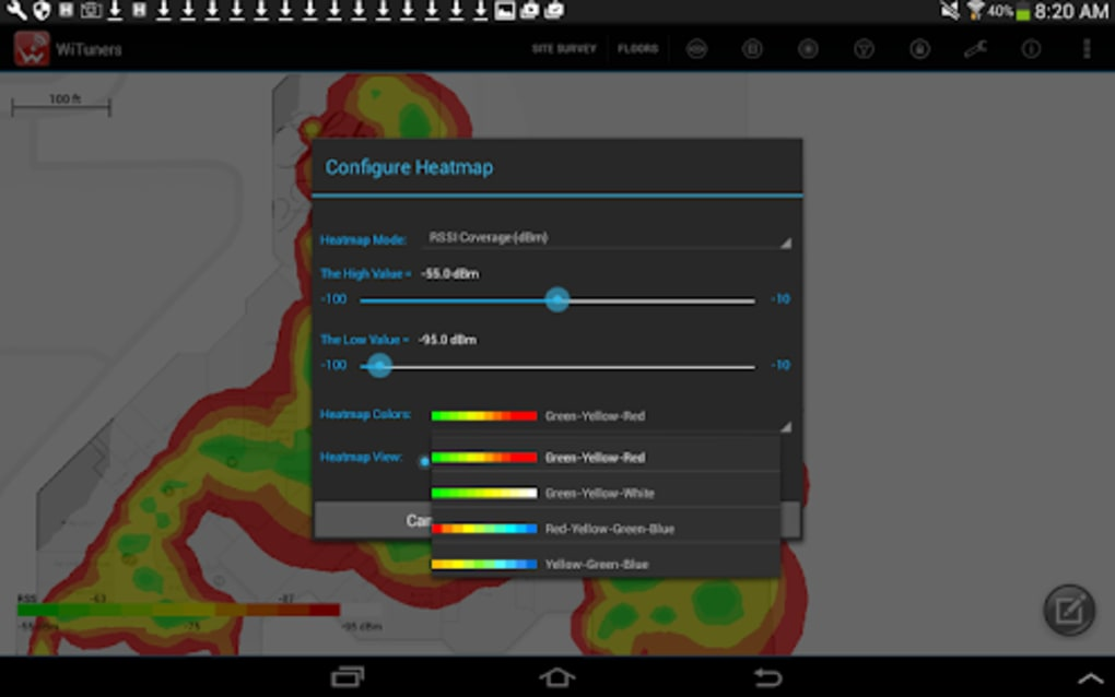 wifi heat mapping android