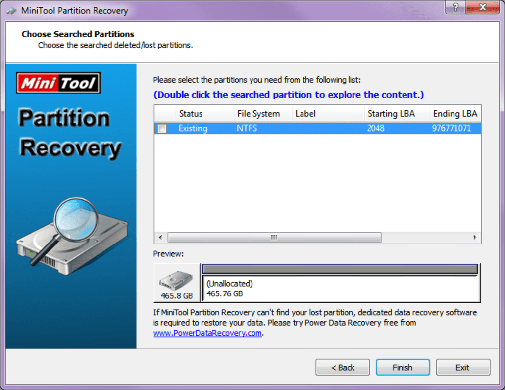 Minitool partition recovery t l charger - Telecharger console de recuperation windows 7 ...