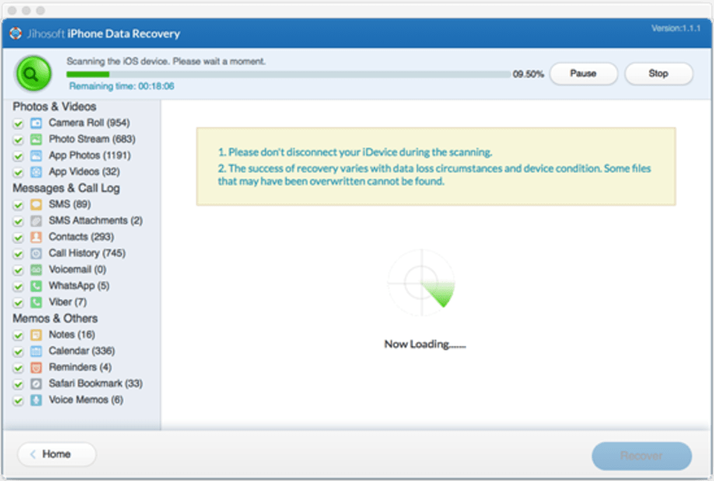 Jihosoft iPhone Data Recovery Mac