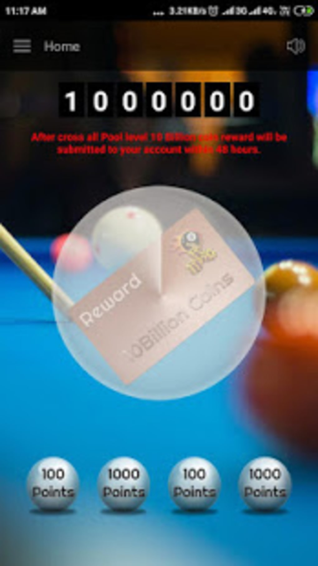 Pool 10billion Coin Reward for Android - Download