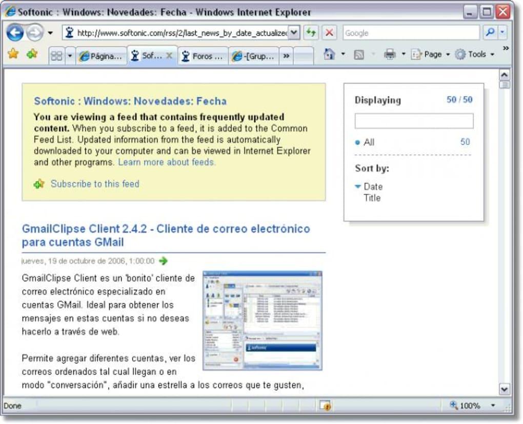 descargar internet explorer para windows vista gratis español
