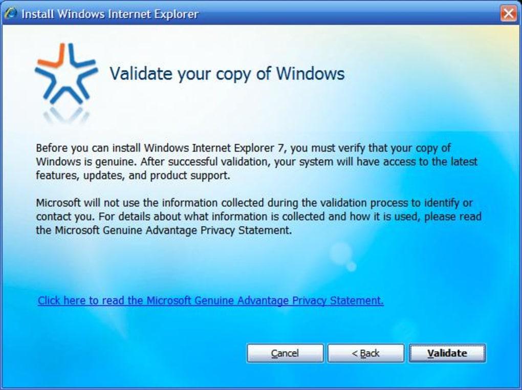 internet explorer 7 for windows xp 64 bit service pack 3