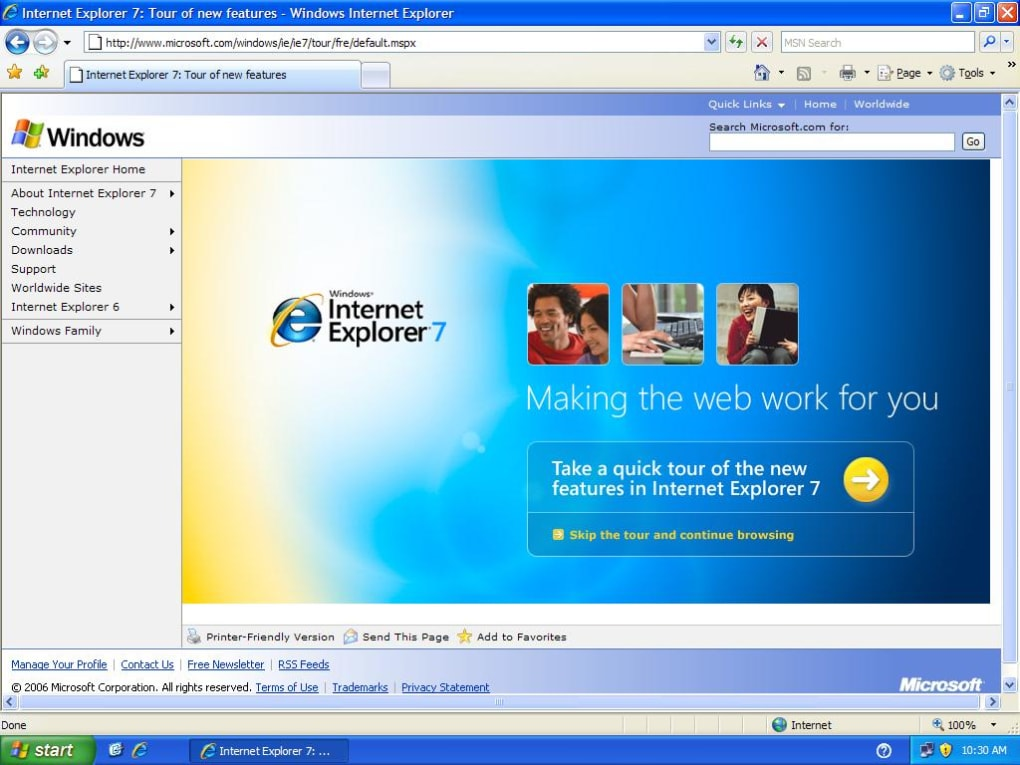descargar internet explorer 7 para windows xp 32 bits gratis