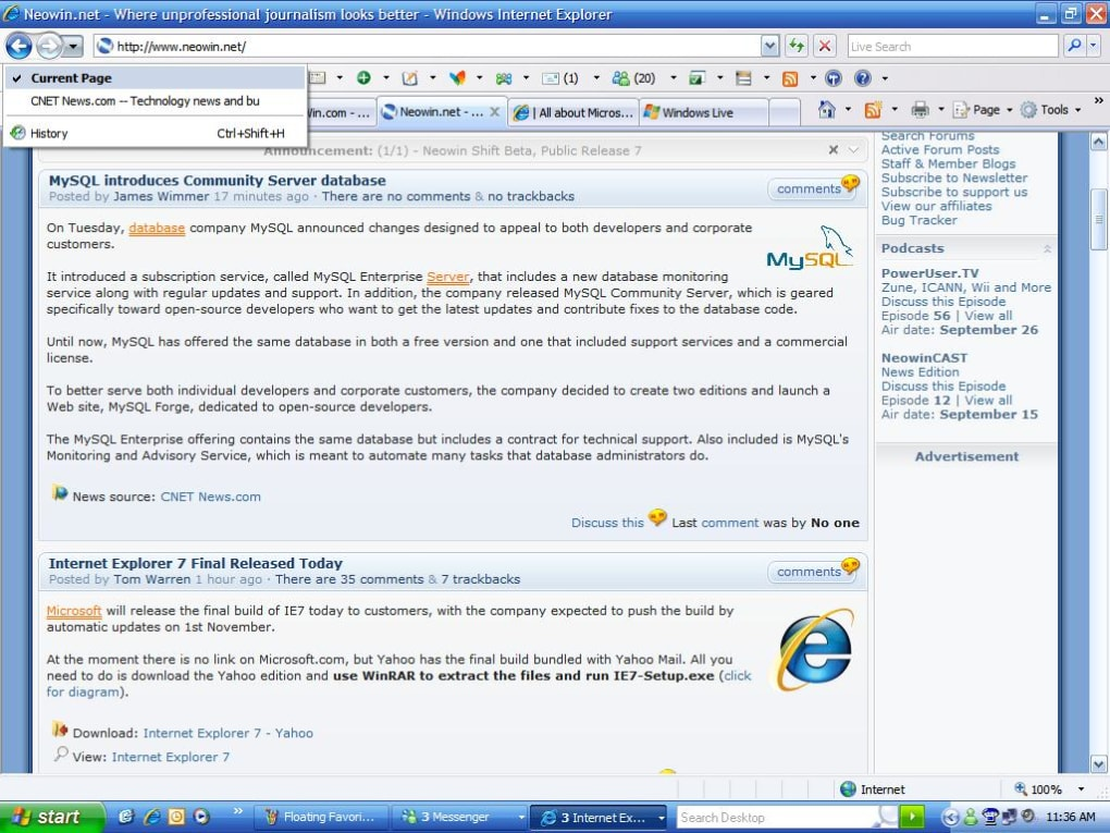 Internet explorer for windows 7 update