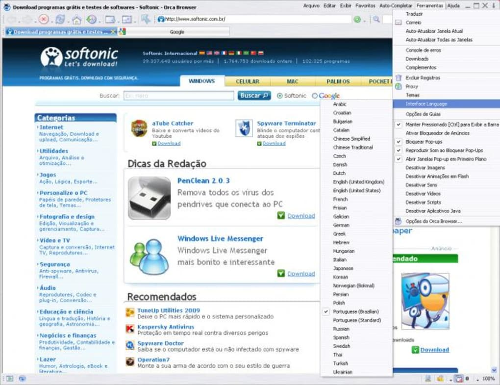 navegador orca browser