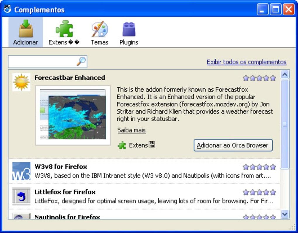 orca navegador