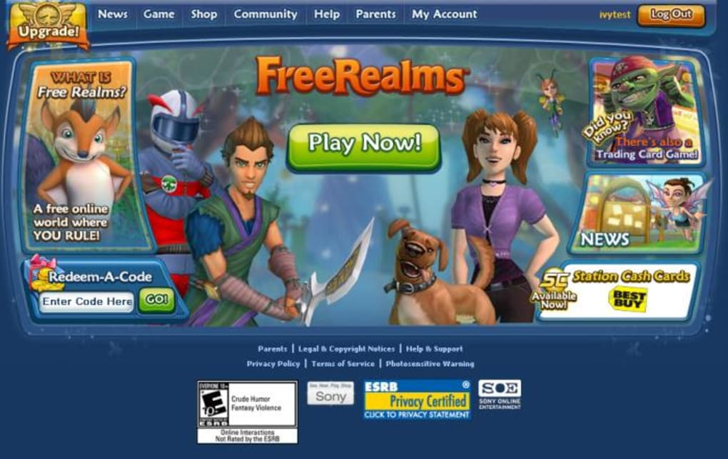 Free realms: sunrise | multiplayer update! Youtube.