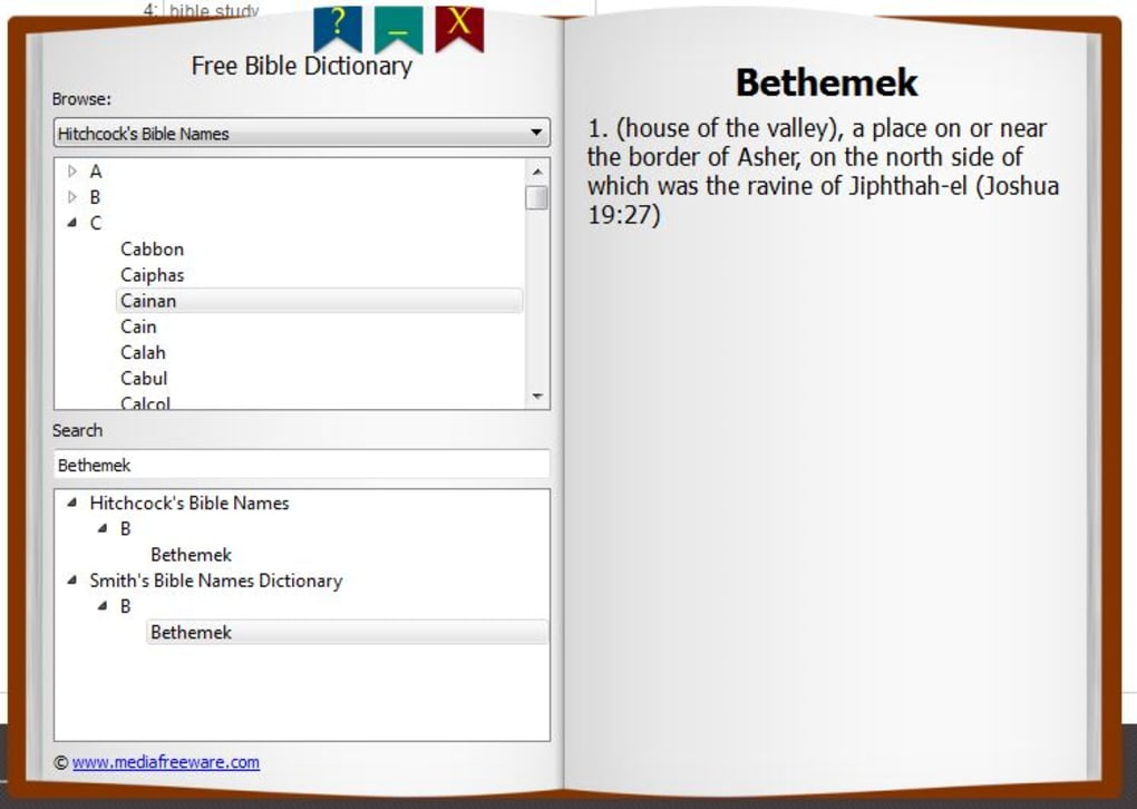 Free Bible Dictionary - Download