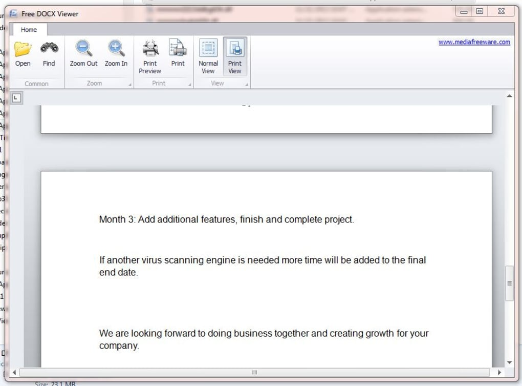 Free DocX Viewer - Download