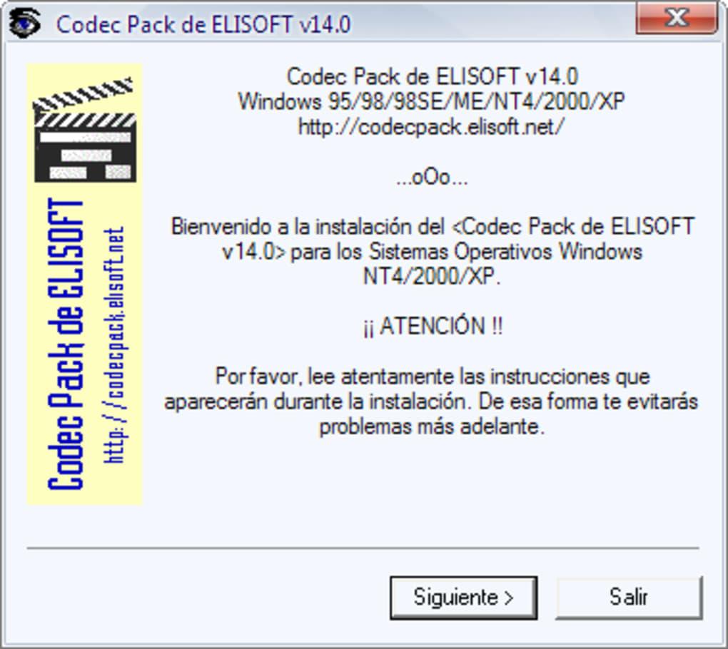 elisoft codec pack 14.0 espaol