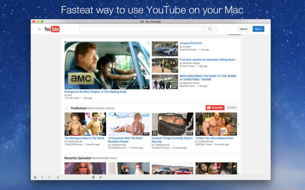 Go for Youtube - Seamless YouTube Video Search and Player for Mac