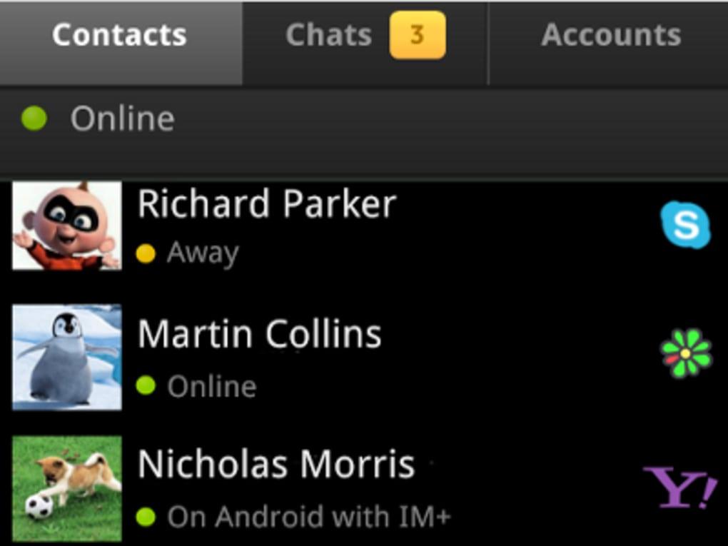 IM+ All-in-One Messenger. 1/4 Screenshots