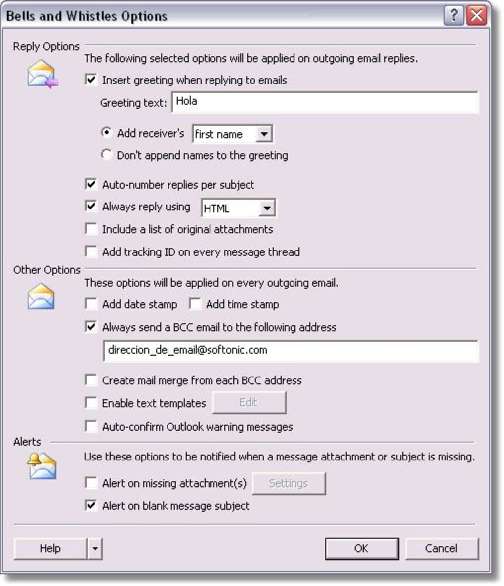 Bells and Whistles for Outlook - Download