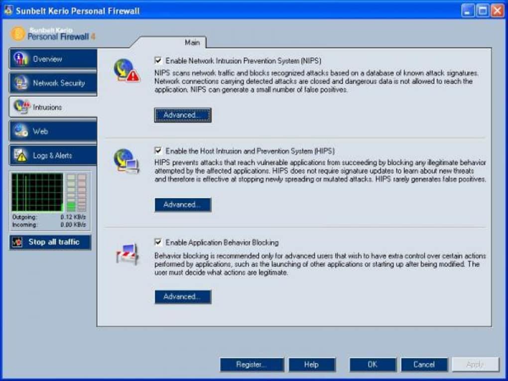 Sunbelt Personal Firewall — 画...