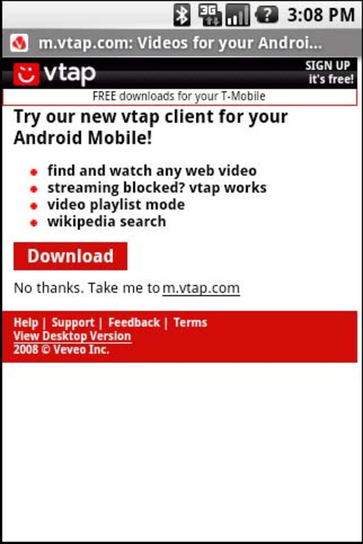 vTap für Android - Download