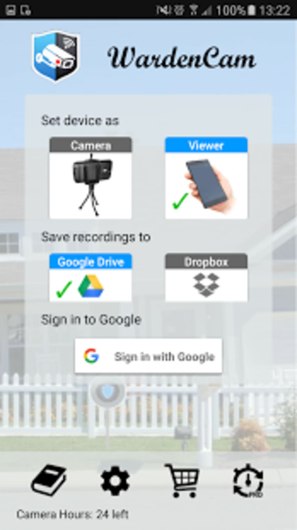 Home Security Camera WardenCam for Android - Download