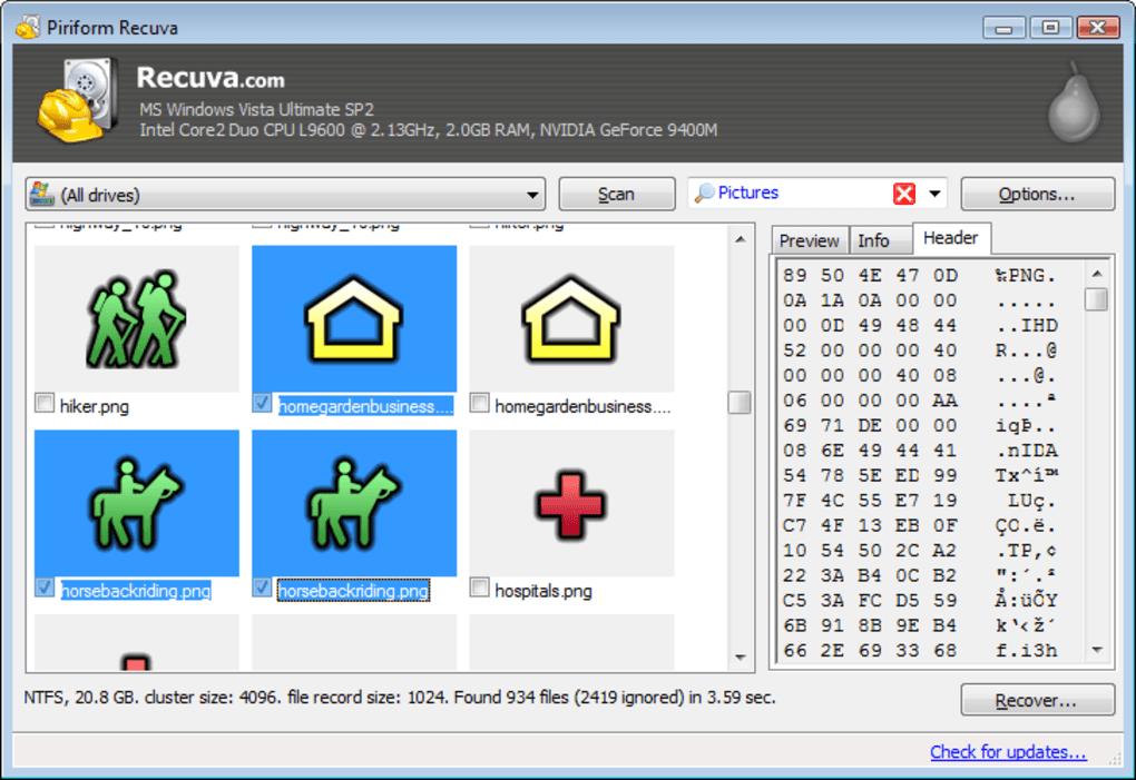 logiciel recuva my files