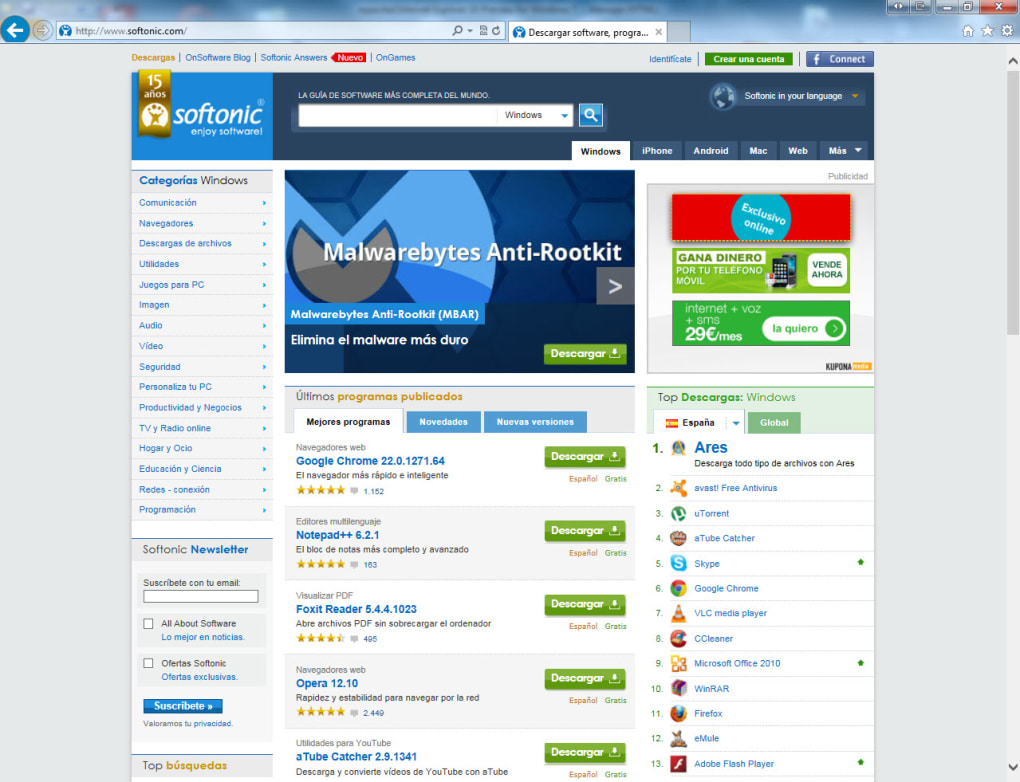 internet explorer 10 windows 7 32 bits español