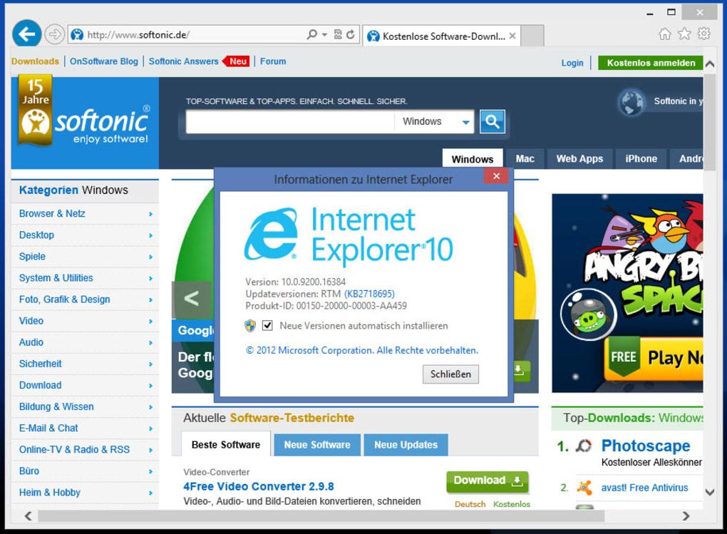 internet explorer 10 for windows 10 download 64 bit