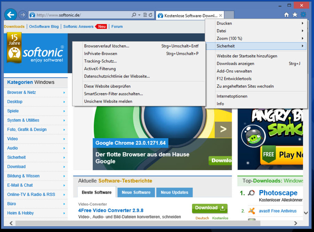 internet explorer windows 7 64