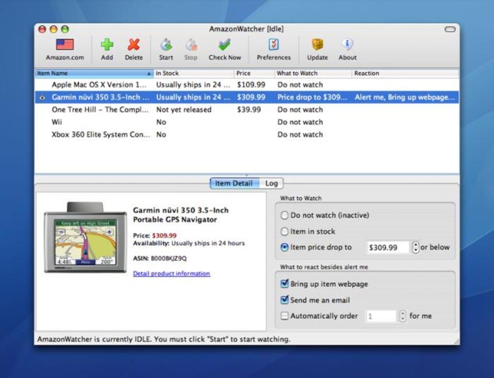 AmazonWatcher for Mac - Download