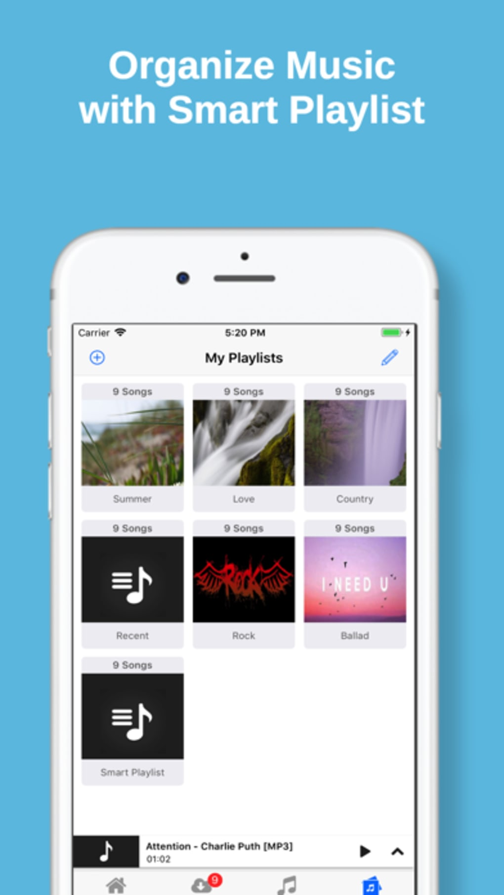 Cloud Music MP3 Offline Player for iPhone - Download