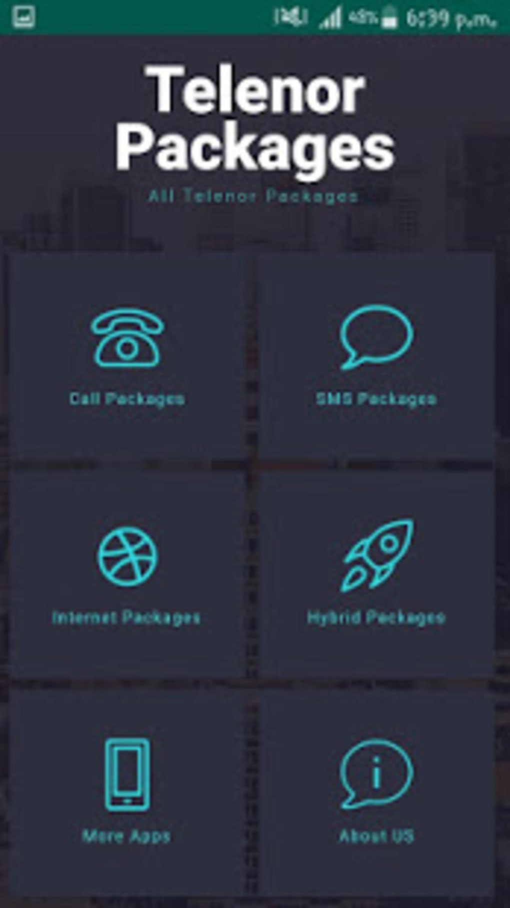 Telenor Packages: Call SMS Internet Packages for Android